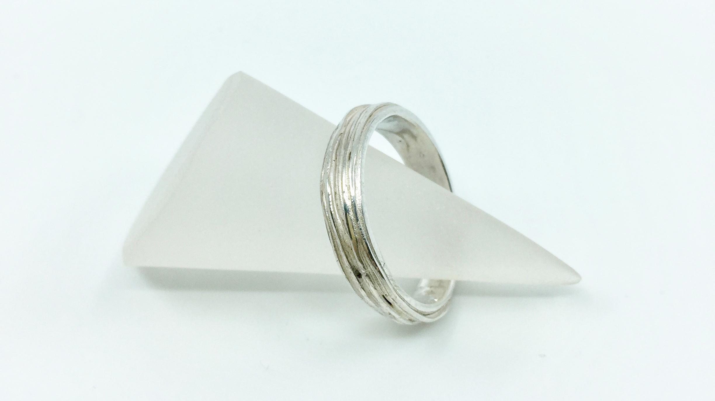 Kunsthandwerk Art Clay Silver Ring gespritzt Himmelsperlen