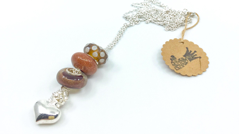 Kunsthandwerk Beads braun Himmelsperlen