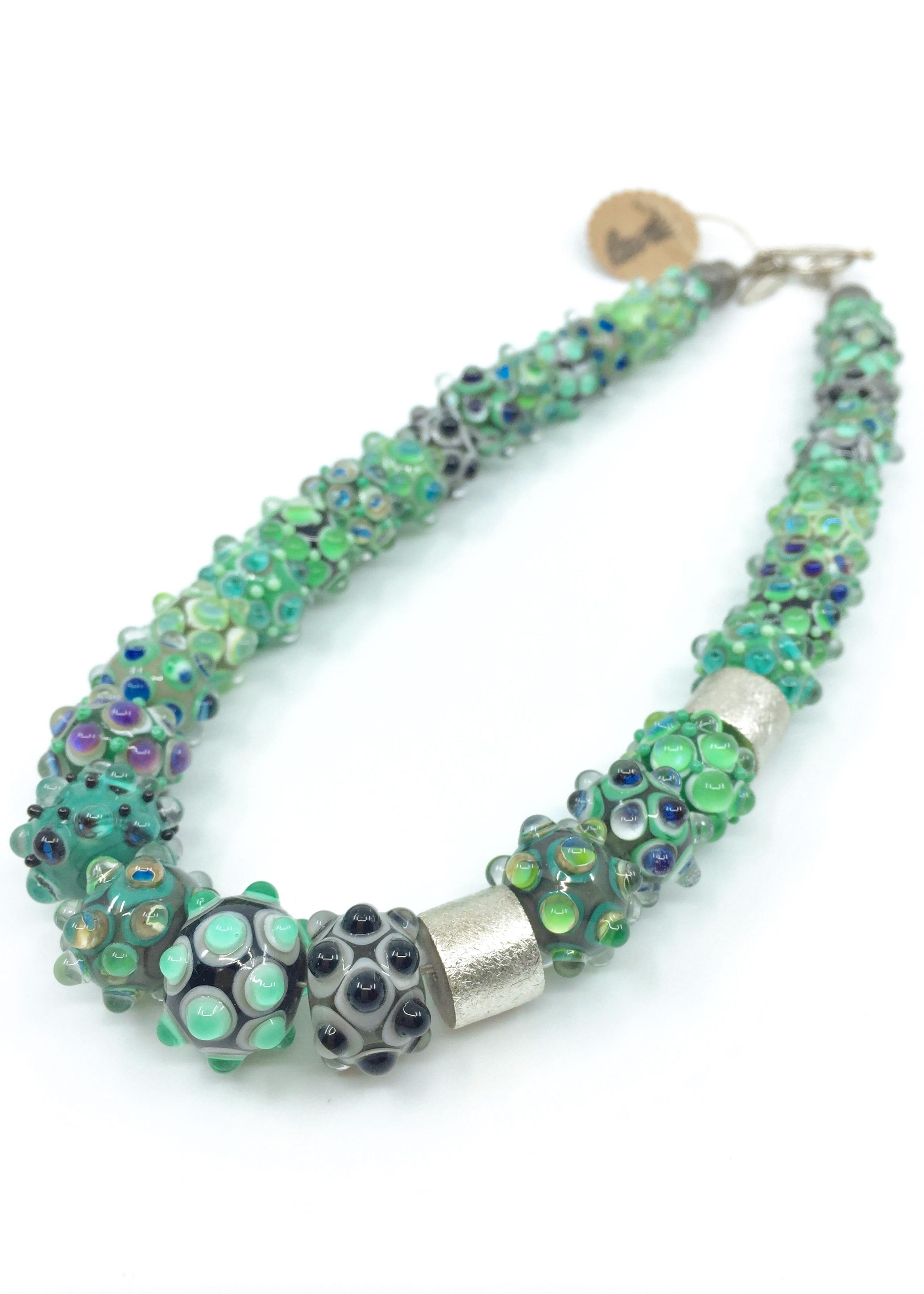 Kunsthandwerk Halskette grün
