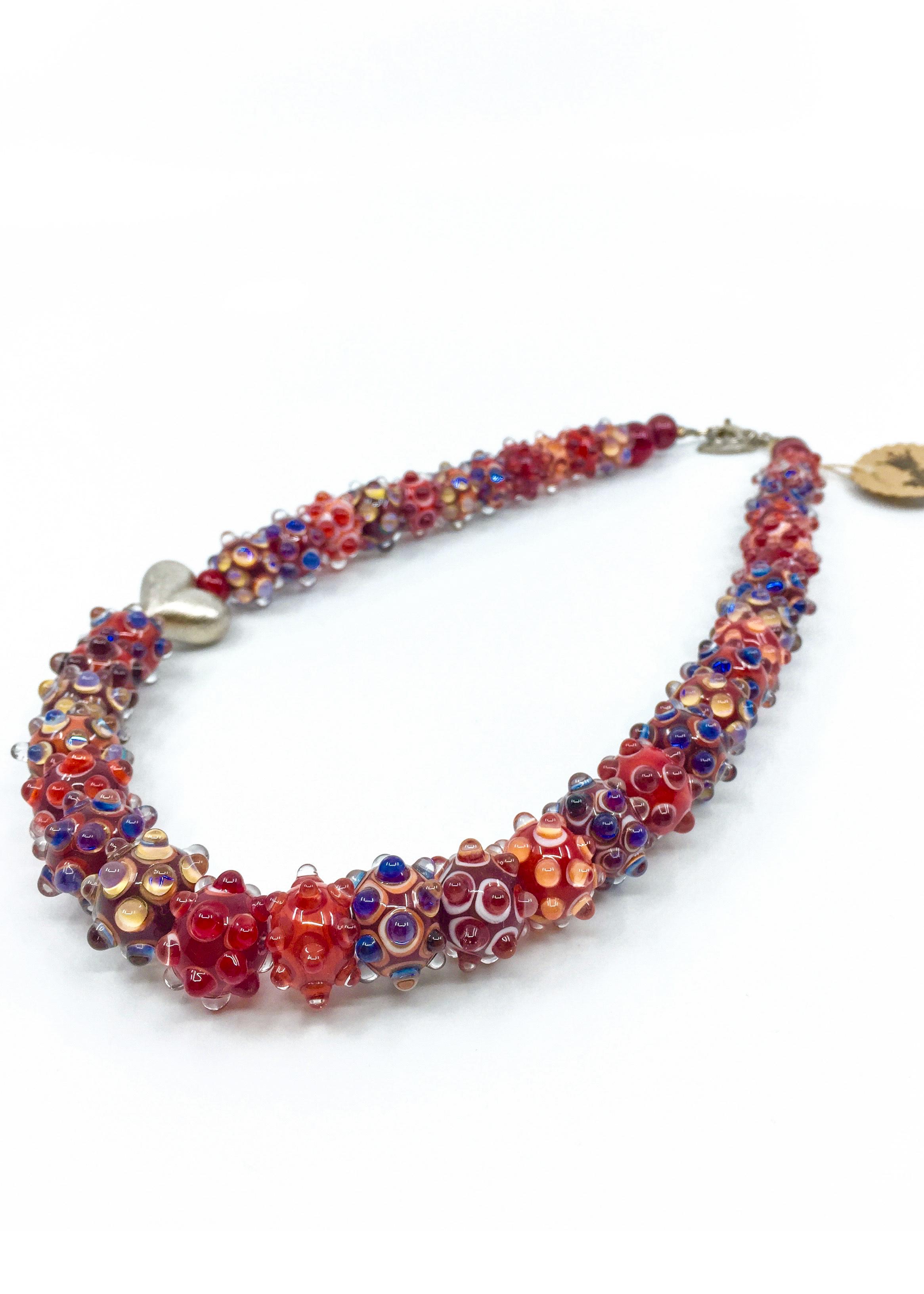 Kunsthandwerk Halskette rot