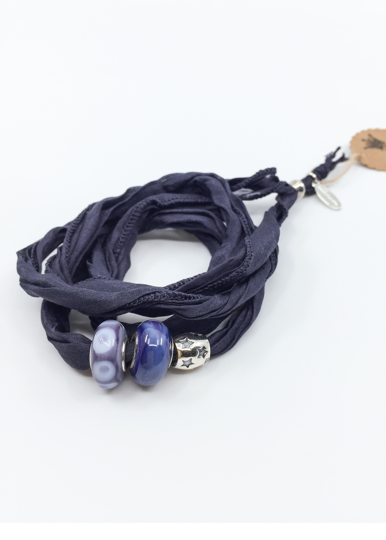 Kunsthandwerk Wechselarmband violett Himmelsperlen