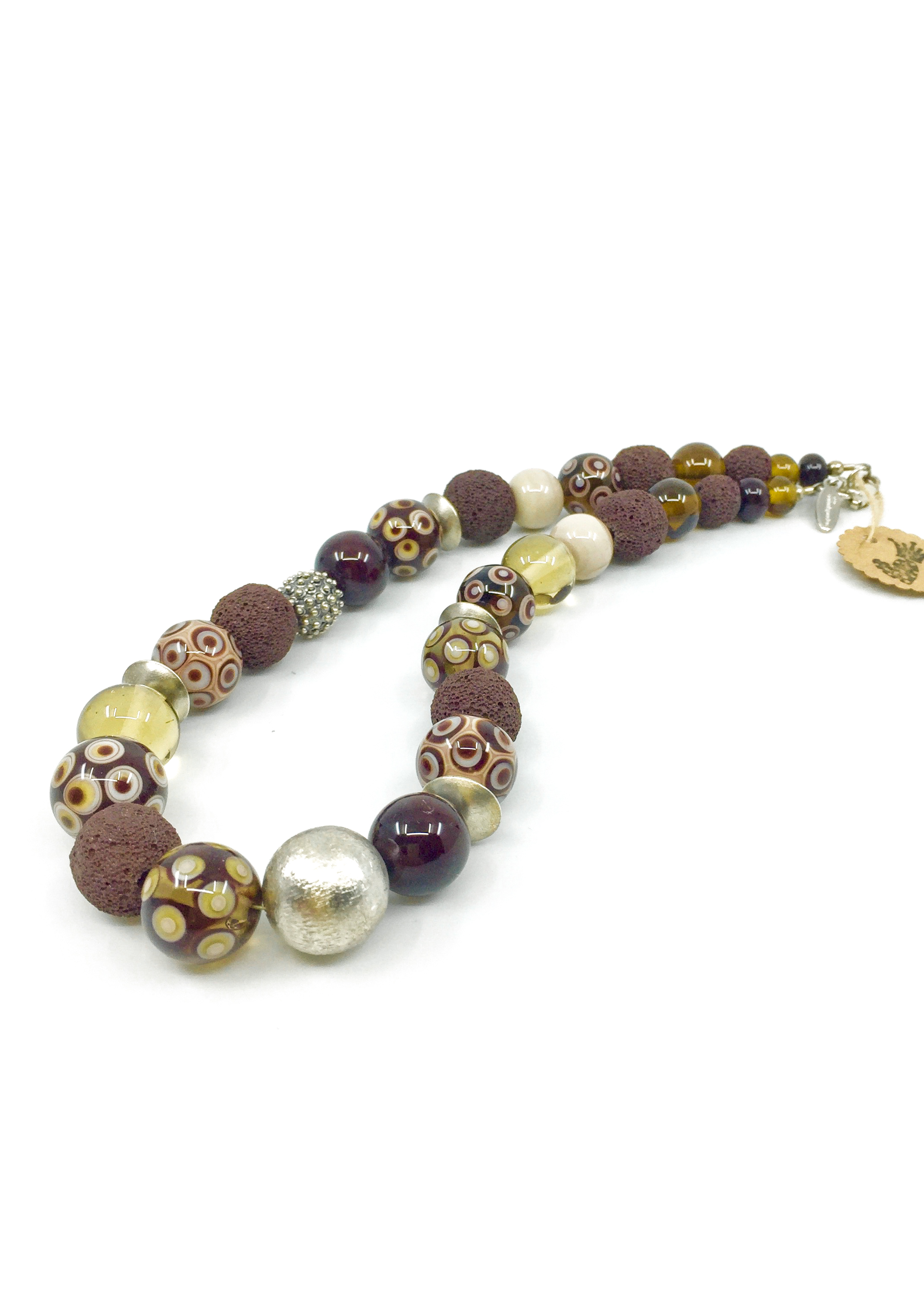 Kunsthandwerk Halskette braun Himmelsperlen