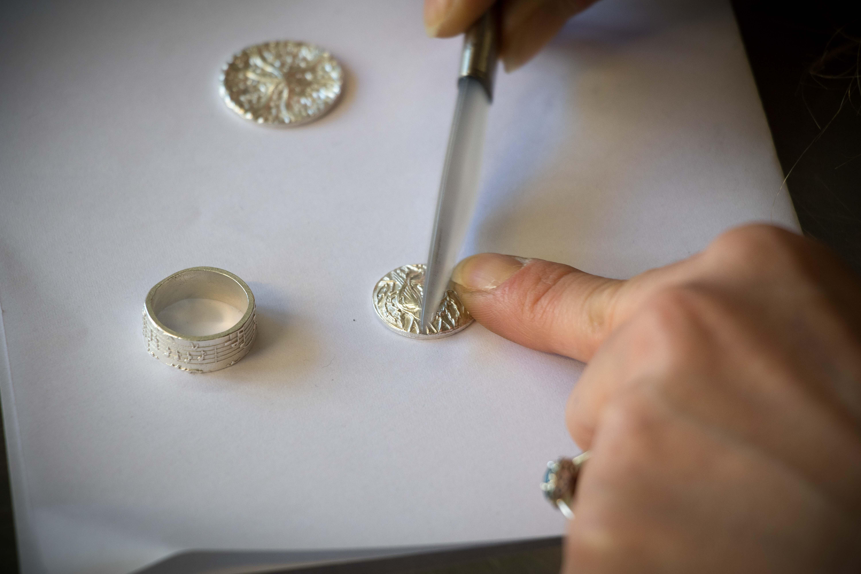 Kursimpressionen Art Clay Silver glänzen Himmelsperlen