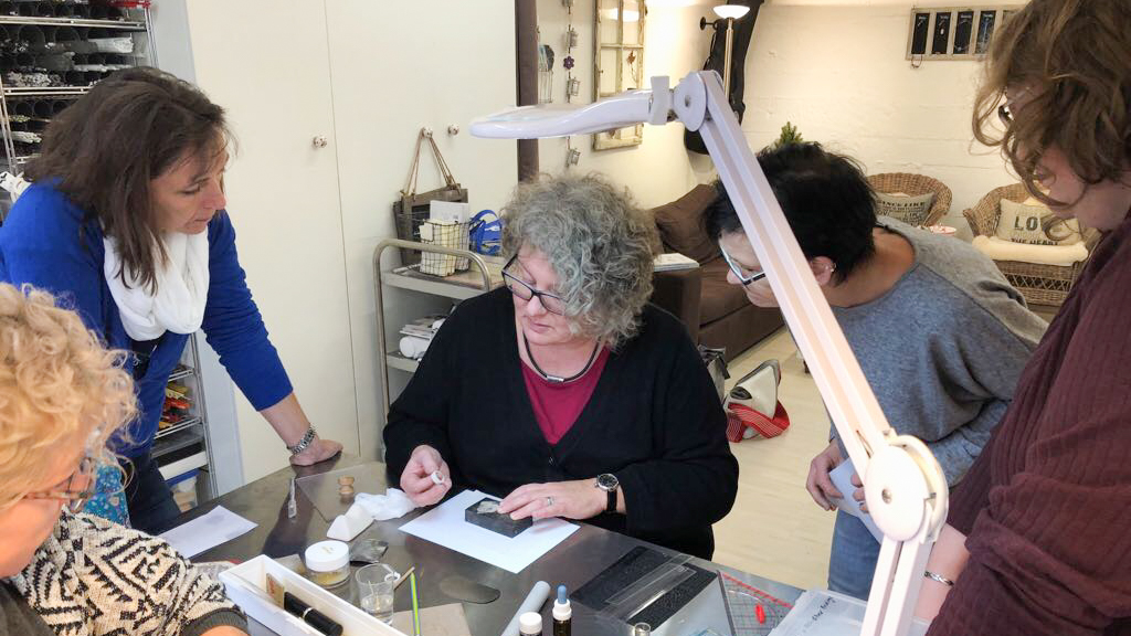 Art Clay Silver Kurs Demo im Kurs Himmelsperlen